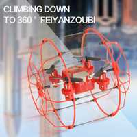 RC Bola de vuelo fy802 RC drone helicóptero 3 IN1 juguete 4ch 6 AXIS Gyro Control remoto quadcopter escalada drone rtf VS u816a