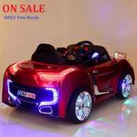 ¡A la venta! 2,4g control remoto doble puerta abierta niños paseo en cochecito de bebé eléctrico cuatro ruedas doble Unidad de Música luz asiento Coche