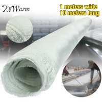 KiWarm 1 unid za tela de fibra de vidrio blanca tejida Roving paño de fibra de vidrio tejido liso acolchado herramientas de tela DIY Material suministros 10 M 1
