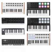 WORLED nouveau contrôleur de clavier MIDI Mini clavier USB contrôle MIDI contrôleur MIDI tampons de clavier 7 Styles pour l'option