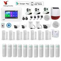 YobangSecurity WIFI inalámbrico GSM hogar sistema de alarma Android IOS App Vídeo IP cámara de seguridad antirrobo casa fuego KIT de alarma