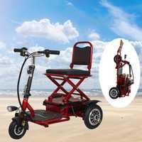 Scooter Eléctrico Trike plegable batería de litio luz movilidad rueda Citycoco motocicleta para ancianos discapacitados triciclo Scooter