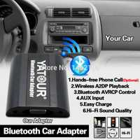 Yatour Bluetooth Car Adapter Digital Music CD Changer (2,4 Switch Cable Connector) para Honda Accord Civic FR-V Legend Jazz Acura