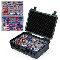 WORKPRO 110 Unid conjunto de herramientas de mano herramientas herramienta caja caso impermeable