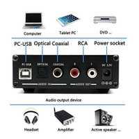 Poesía dil X6 Pro DAC HiFi amplificador de auriculares decodificador 24Bit/192 kHz Optical/Coaxial/USB de Audio estéreo de Digital decodificador