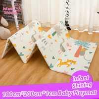 Infantile brillant 200*180*1 cm pliable bébé tapis de jeu écologique XPE enfants tapis de jeu Cartton tapis antidérapant tapis de salon