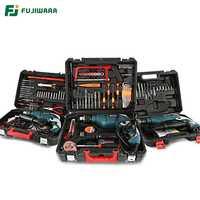 FUJIWARA 220 W 710 V 50Hz taladro de impacto eléctrico 18 38/68 sets hogar martillo de mano perforación de pared taladro de carpintería