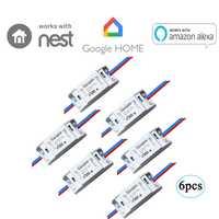 6 piezas Sonoff básico-WiFi inalámbrico Smart remoto en tiempo/OFF módulo DIY interruptor MQTT COAP iOS voz Android Control Smart Home
