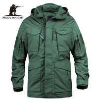 Mege marca M65 camuflaje militar Hombre Ropa ejército táctico de los hombres rompevientos con capucha chaqueta Outwear casaco masculino