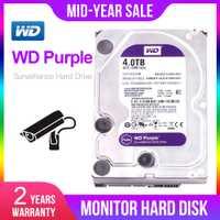 Unidad de disco duro de vigilancia WD Purple 4TB HDD-5400 RPM clase SATA 6 Gb/s 64MB caché 3,5 pulgadas-WD40EJRX