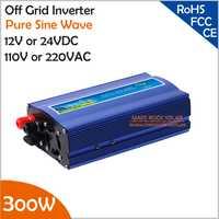 300 W inversor de la rejilla, 12 V/24 V DC a AC110V/220 V onda sinusoidal pura inversor solar pequeño o viento sistema de energía, energía de la oleada 600 W