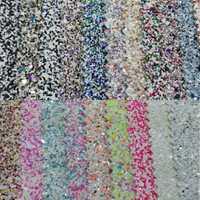 90x134 cm Pieles sintéticas Faux cuero Telas Glitter cuero Big Glitter multi-colores brillo cuero para Costura arco DIY p105