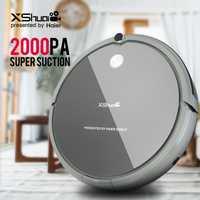 XShuai HXS-G1 aspiradora Robot inalámbrico 2000 PA súper succión Auto recarga Gyro navegación barrido de arrastre para madera piso alfombra