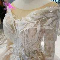 Vestido de novia AIJINGYU para mujer, vestidos de encaje, tela de recepción modesta, vestidos de novia maduros con imágenes reales de Rusia