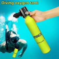 Mini buceo tanque de oxígeno bajo el agua tubo respirador respiración botella de oxígeno adulto equipo de natación