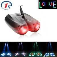 ZjRight coloré RGBW motif scène lumière 20 W 128 LED Double tête dirigeable projecteur lampe pour DJ fête effet mariage événements Club