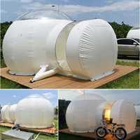 SGODDE 3 m inflable Eco tienda de bricolaje casa de lujo cúpula de cabaña Lodge de burbuja de aire