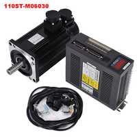 6N. M 1,8kw 3000 tr/min 110ST AC servomoteur 110ST-M06030 + servomoteur assorti + câble kits de moteur complets