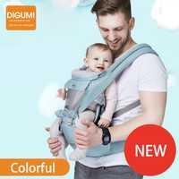 DIGUMI de lujo de 3 en 1 portador de bebé ergonómico del portador de canguro mochila del abrigo recién nacido evitar tipo o las piernas cuidado del bebé