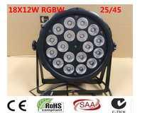 LED Par 18x12 W RGBW 4IN1 luce della lavata di Lusso controlador DMX Led Par plana Luci dj