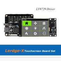 3D impresora de Lerdge-X brazo de 32Bit controlador placa base + pantalla táctil de 3,5 pulgadas con 4 piezas LV8729 los conductores