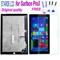 Catégorie AAA Starde Original LCD pour Microsoft Surface Pro3 Pro 3 1631 V1.1 V1.0 LCD écran tactile numériseur assemblée + verre