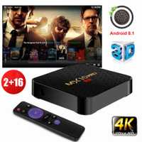XGODY MX10PRO Android 8,1 caja de Smart TV 2 + 16G Quad Core 4 K 3D reproductor multimedia Wifi TV receptor