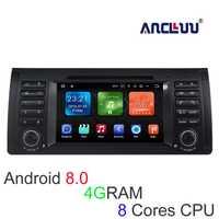 4G RAM reproductor de DVD del coche del androide 8,0 para BMW E39 X5 M5 E38 E53 Car stereo Radio GPS navigator grabadora soporte wifi canbus