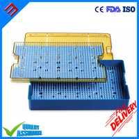 Plástico médico doble capa plástico Micro instrumento tamaño de la bandeja 10