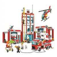 Legoings 60110, 958 piezas de la Serie estación de bomberos modelo de construcción de bloques de juguete para niños Regalo de Cumpleaños 10831