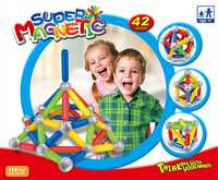 Juguetes educativos para niños 3D bloques de construcción súper magnéticos juguetes 42 Piezas componente deformación modelo de crecimiento juguete bebé regalo de Navidad