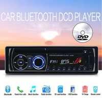 De Audio de música FM AUX USB tarjeta SD BT Bluetooth 1 DIN CD DVD MP3 player con Control remoto panel desmontable auto Radio estéreo