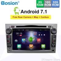 2 din Quad Core Android 7,1 coche grabadora GPS reproductor de DVD para el Opel Astra H Vectra Opel Corsa Zafira B C G OBD2