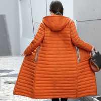KUYOMENS nueva chaqueta informal de algodón de invierno 2018 Chaqueta larga de Invierno para mujer Parkas abrigo ajustado de invierno