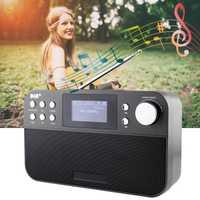 Portable 2,4 pulgadas Digital Radio altavoz soporte FM + DAB Radio con LCD Digital Snooze función de alarma hogar decoración