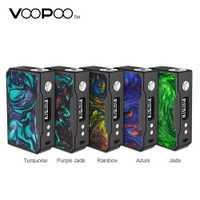 VOOPOO negro de resina de arrastre 157 W TC Box MOD0.025s de disparo más rápido e innovador súper modo Vape Mod No 18650 batería caja MOD arrastrar 157 W