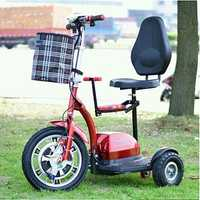 Bicicleta Eléctrica bicicleta eléctrica plegable mini 36 V 450 W citycoco adulto e-scooter/scooter de tres ruedas/Triciclo