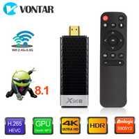 VONTAR X96S 4 K TV Stick Android 8,1 4 GB 32 GB Amlogic S905Y2 Quad Core 2,4G y 5 GHz Dual Wifi BT4.2 1080 P H.265 4 K 60pfs TV Dongle