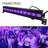 12 LED Disco UV Violet noir lumières DJ 36 W Par lampe UV pour fête noël Bar lampe Laser scène mur rondelle Spot lumière rétro-éclairage