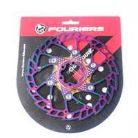 Rotor de freno de disco flotante para bicicleta de carretera de montaña FOURIERS MTB 140 203 180mm 160 rotores de disco de seis orificios