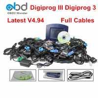 Conjunto completo Digiprog3 Digiprog 3 V4.94 FTDI odómetro herramienta de programador Digiprog III DigiprogIII OBD2 Cables completos de corrección de kilometraje
