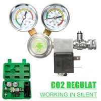 Regulador CO2 de utilidad con válvula de retención contador de burbujas válvula magnética solenoide acuario válvula reductora de presión de dióxido de carbono