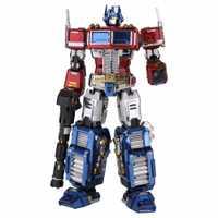 MU 3D de Metal TF Optimus Prime G1 DIY láser cortar rompecabezas modelo para niños adultos juguetes de decoración de escritorio
