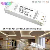 LT-704-5A; DC12-24 V 4CH CV 0-10 V, 1-10 V a PWM controlador de regulación 5A X 4 CH MAX 20A para led rgbw solo color tira cinta