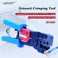 NOYAFA NF-5007 red lan kit de herramienta de Cat6 Cat5 RJ45 Crimper prensa herramienta de cable de red que prensa alicates