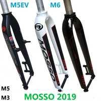 2019 Mosso fourche M6 M5 M5E M5EV M3 vtt vélo fourche adapté 26 27.5 29er route vélo fourche suspension avant fourches brillant/mat