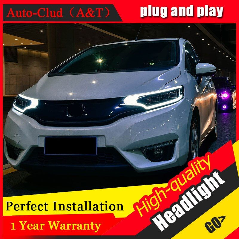 SXF US $1050.09 Auto Clud Car Styling For Honda fit headlights 2014-2017 For fit head lamp led DRL front Bi-Xenon Lens Double Beam HID KIT