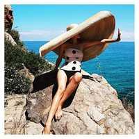 Pré-vente, s'il vous plaît prolonger le délai de livraison à la main 45 cm bord de mariage chapeau de soleil femmes loisirs chapeau prendre photo