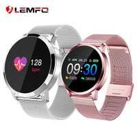 LEMFO Reloj inteligente mujer IP68 Monitor ritmo cardíaco recordatorio de mensaje llamada podómetro calorías Smartwatch hombres y mujeres para Android IOS
