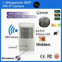 960 P PIR Detector de movimiento Pin agujero 1.3MP Pir Mini Ip Wifi IR CCTV IP Cam visión nocturna PIR IR IP Audio